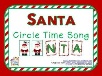 Santa Circle Time Song (free; from Play to Learn Preschool on TpT)