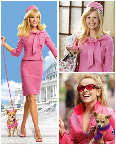 Tendência Barbie, pink/rosa as cores da trend. Reese Witherspoon, como a personagem Elle Woods do filme Legalmente Loira.