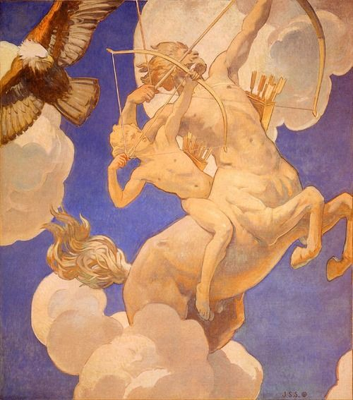Chiron and Achilles (c. 1922-1925). John Singer Sargent. oil on canvas, Museum of Fine Arts, Boston ...