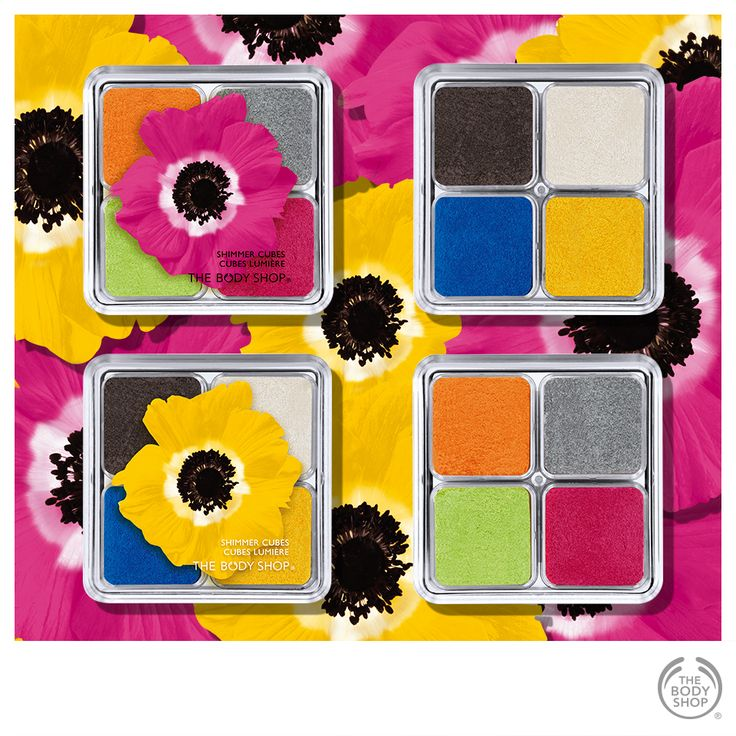 Pink & Yellow Shimmer cubes from The Body Shop: http://www.thebodyshop.co.za/store/list/category/new-trend-make-up