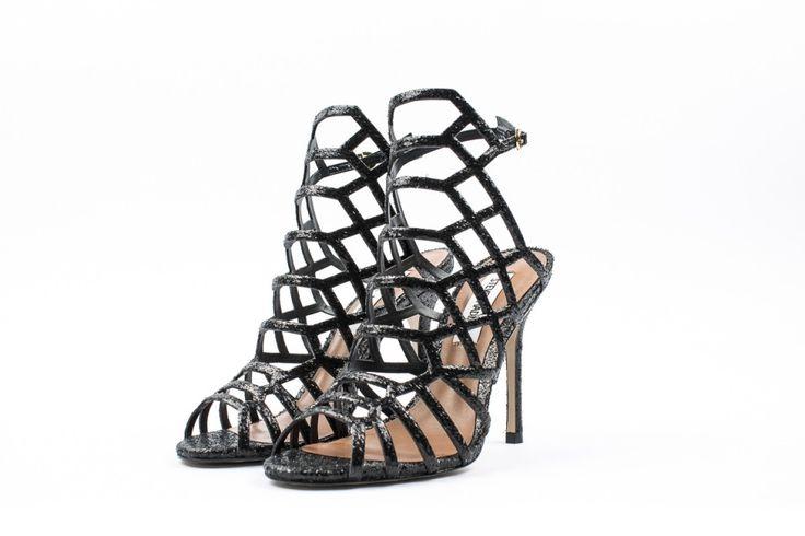 Steve Madden sandali alti glitter nero immagini