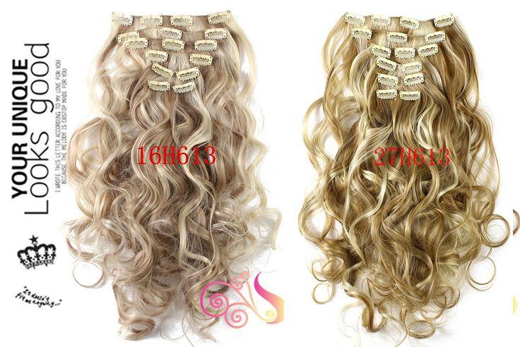1 компл. клип на наращивание волос 50 см 20 дюймов 7 шт./компл. природные шиньоны прическа волнистых фигурных синтетических клип в наращивание волос 999 купить на AliExpress