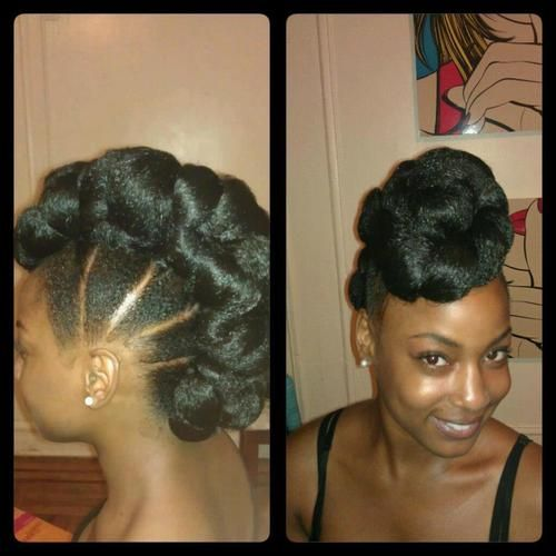Natural hair - the mohawk pile up!