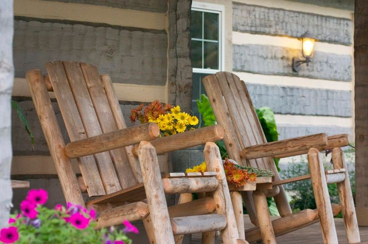 rustic outdoor rocking chairs