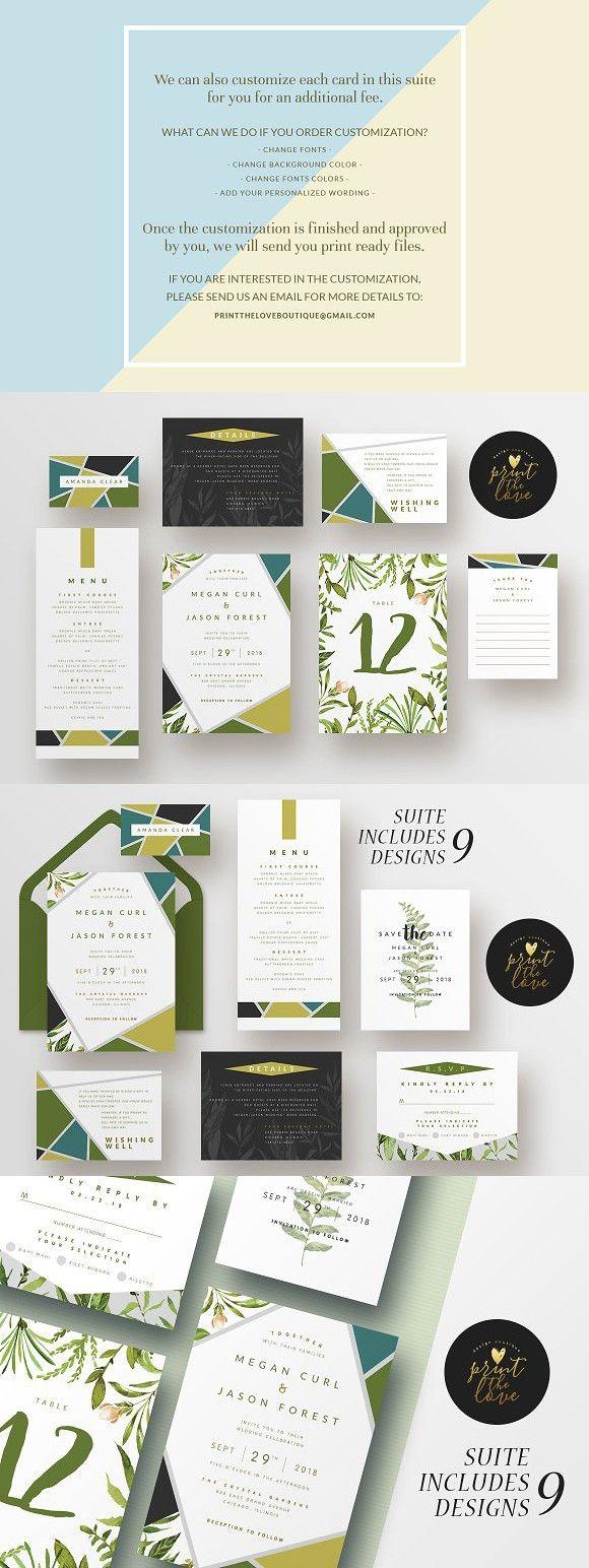 Wedding Invitation Suite Botanika 11073 best