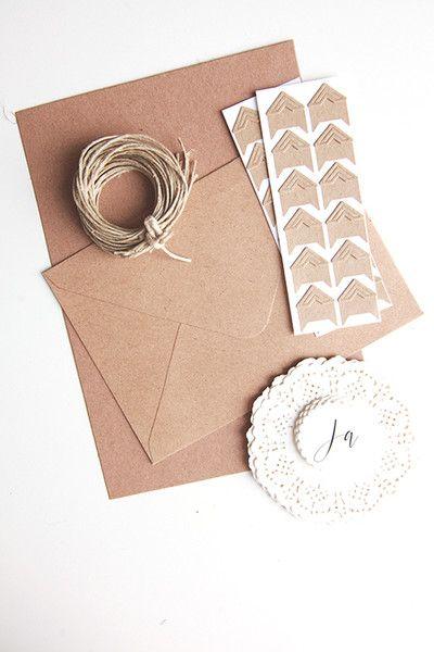 Do+it+yourself+Kit+-+Vintage+Hochzeit+Kraftpapier+von+reflect.photographie+&+crafts+auf+DaWanda.com