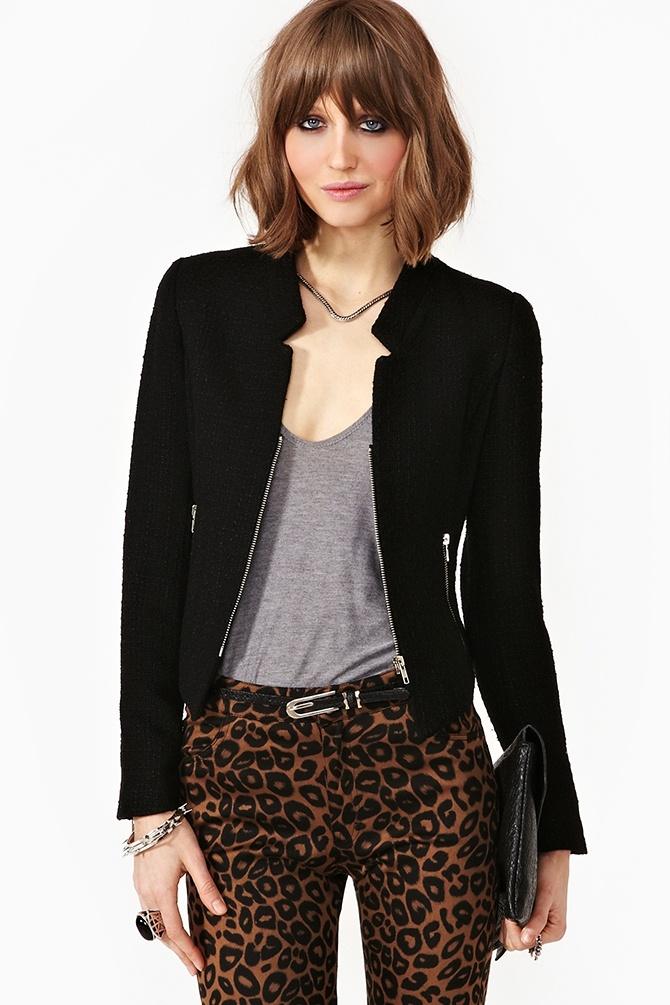 Camilla Tweed Jacket - Black