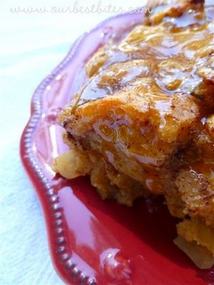 Caramel Apple Bread Pudding | Our Best Bites - Amazingly delicious!