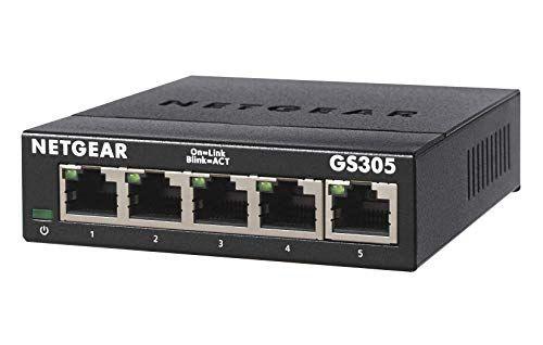 St Desktop Internet Splitter NETGEAR 5-Port Gigabit Ethernet Unmanaged Switch