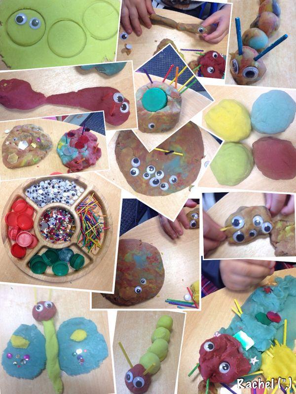"""Butterfly & Caterpillar Dough - from Rachel ("""",)"""