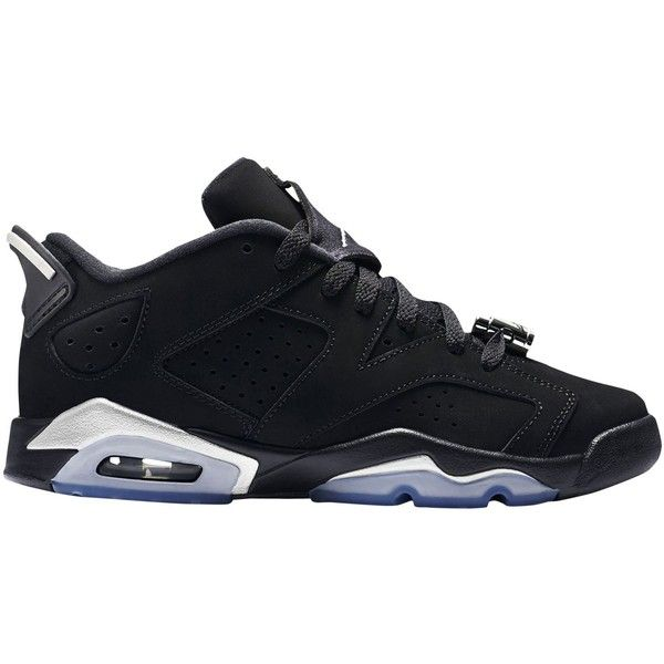 Jordan Retro 6 Low Boys' Grade School ($120) ❤ liked on Polyvore featuring shoes, jordans and sneakers