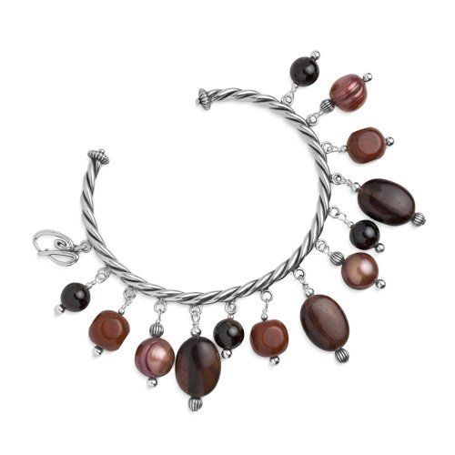 Southwest Spirit Sterling Silver Shades of Red Beaded Cuff Bracelet Southwest Spirit. $44.98. Natural Gemstones: Garnet, Red Jasper, Tiger Eye, Freshwater Cultured Pearl. Genuine .925 Sterling Silver. Fits Average-Sized Wrists. Proudly Made in the USA. Lifetime Warranty on Jewelry. Save 53% Off!