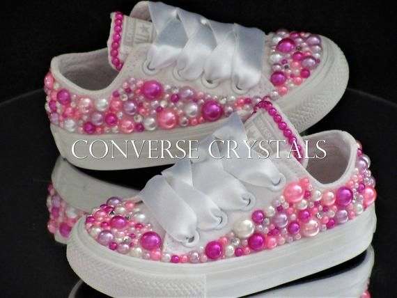 Baby Infant Toddler Girls Custom Princess Pink Pearl Bling  ef069f18a