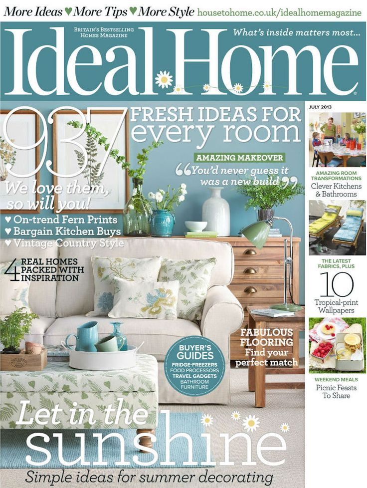 Ideal Home | Considered one of the best-selling homes magazines in the UK, on Ideal Home every issue is packed with home makeovers, decorating ideas, buyers guides, tips and advice. | To see more news about the Interior Design Magazines in the world visit us at www.interiordesignmagazines.eu #interiordesignmagazines #designmagazines #interiordesign @imagazines