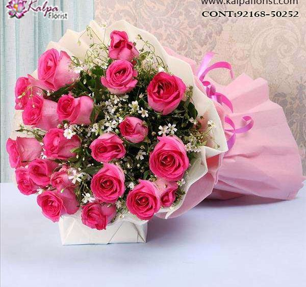 Magic And Love Bouquet Same Day Flower Delivery Jalandhar Online Flower Delivery Flower Delivery Pink Rose Bouquet