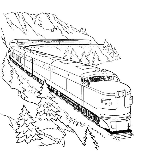 Transportation coloring pages trains ~ A Very Long Train Coloring Pages - Transportation Coloring ...
