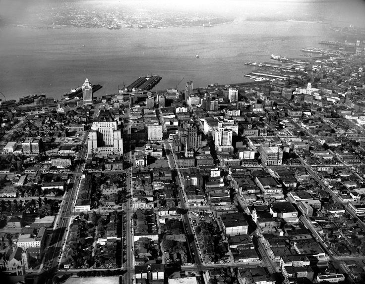Aerial view of Vancouver, ca. 1948. Photo by Jack Lindsay,