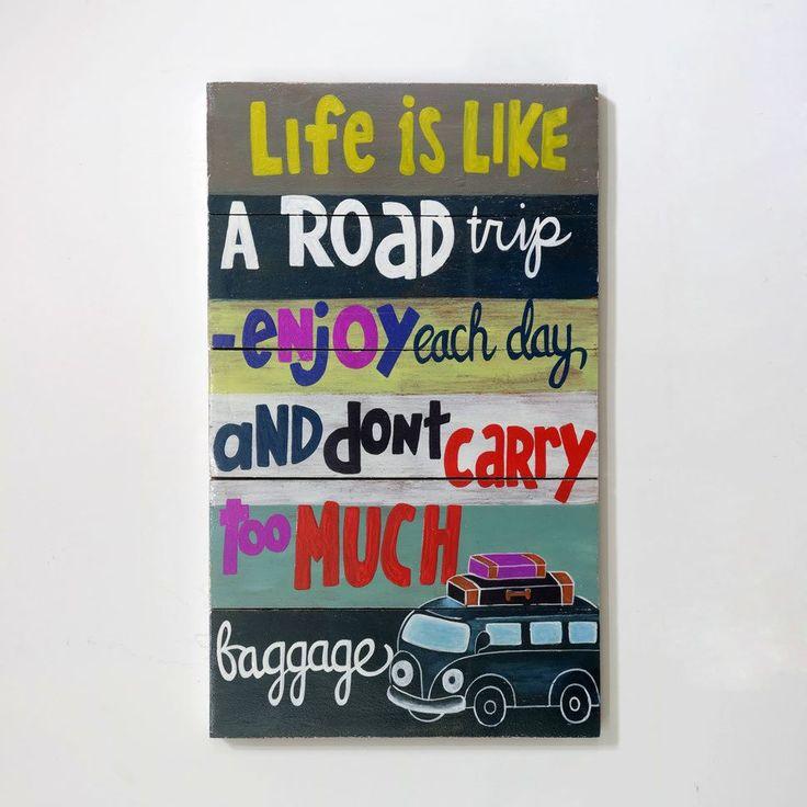 woodpainting 30 x 50 x 2 cm  #woodsign #homedecor #dekorasirumah #interiorjakarta #painting #vintage #retro #wallart #homedesign #road  detail info & custom design please contact (0274) 646 1457 whatsapp 081904122277 line ID ALLDECOS