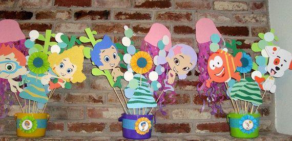 1000 ideas about bubble guppies centerpieces on pinterest fairy party favors fairy party - Bubble guppies center pieces ...