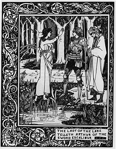 The Lady of the Lake Telleth Arthur of the Sword Excalibur | Robbins Library Digital Projects