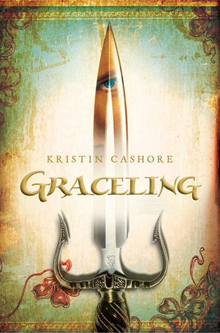 Graceling (Graceling Realm #1) by Kristin Cashore.  A lovely YA fantasy novel with a strong, sword-wielding heroine. Creative and enjoyable. Fun characters, a unique and interesting world, and an engaging plot. <3 YA fantasy. Click through for full review.
