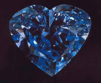 $16,000,000.00 fancy vivid blue 27.64 carat diamond ~ 'The Heart Of Eternity' found in South Africa
