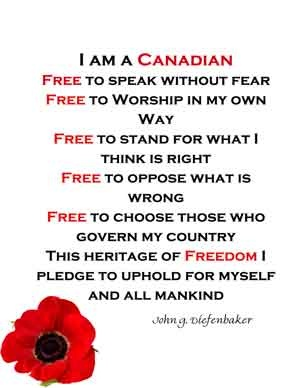 We are so blessed to live in Canada I am so thankful God saw fit for me to be born here:)