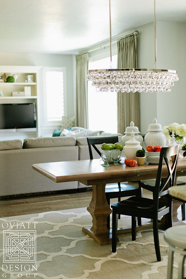 """Interior Design Ideas - """"Dining Room Lighting"""" (Robert Abbey S1007 Bling - Eight Light Oval Chandelier, Polished Nickel Finish with Clear Crystal Glass)"""