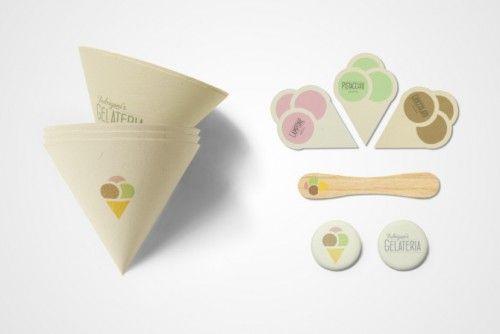 ice creamBrand Identity, Corporate Identity, Joe Stephenson, Brand Design, Graphics Design, Identity Design, Fedrigoni Gelateria, Ice Cream Packaging, Icecream