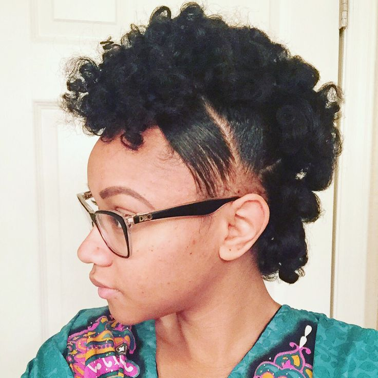 Natural Mohawk using perm rods #natural #mohawk #permrods #beautymebri