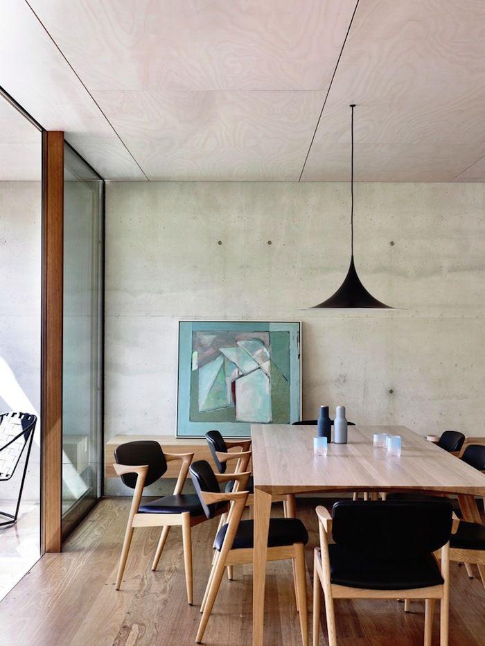 dining - tallowwood floor - concrete   schulberg demkiw architects