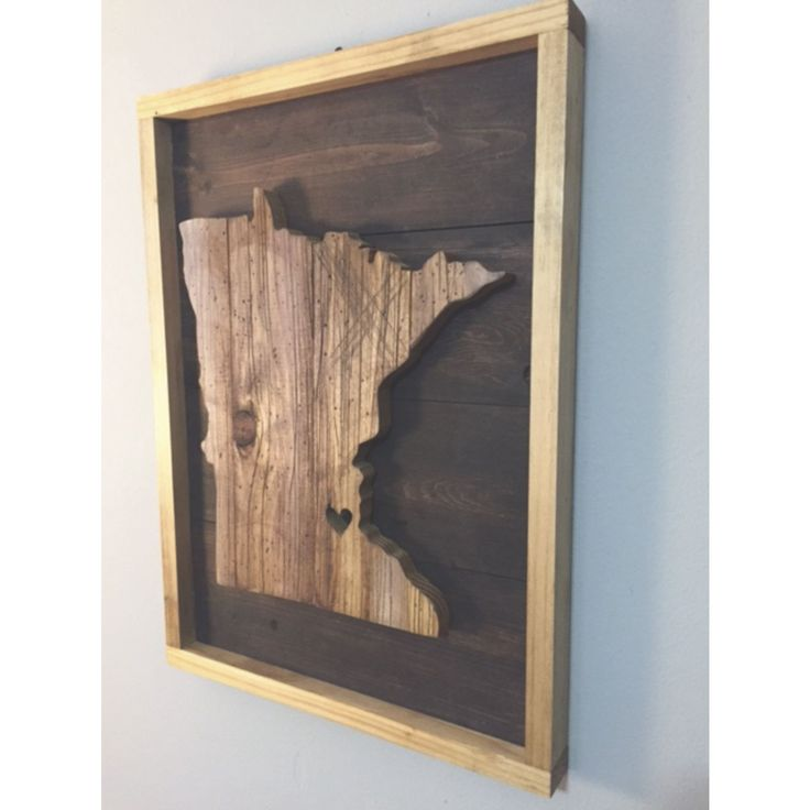 "This wood is all cut, distressed and stained by hand. If you're going to fill your home with decor... Do it right and buy the things that people will take notice of. Like this. Dimensions: 9"" x 12"" OR"