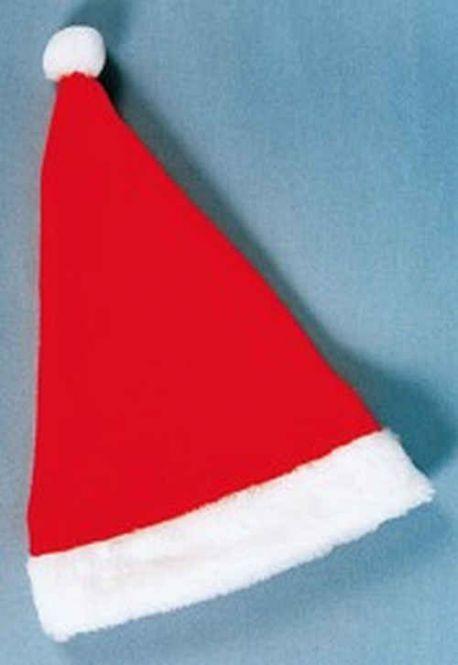 Weihnachtsmannmütze aus Plüsch