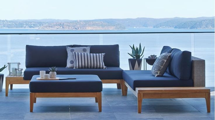 Pricey but style I like. Grid 3 Piece Outdoor Corner Modular Lounge Setting | Domayne