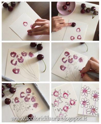 icoloridilaura: Dipingere con le ciliegie...tutorial veloce