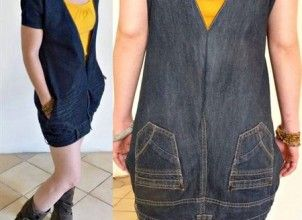#dıy #kendinyap #hobi #kotpantolon #jean Eski Kot Pantolonundan Mini Elbise Yapımı
