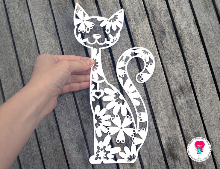 Cat Paper Cut Template, SVG / DXF Cutting File For Cricut / Silhouette & PDF Hand Cutting Printable. Digital Download by DigitalGems on Etsy