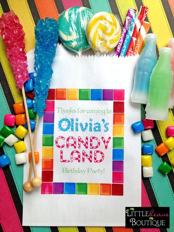 Personalized Candy Bags Birthday Party Favor Treat Buffet Sweets Treats In 2018 Ideas Pinterest