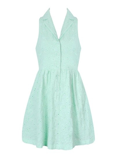 Mint green dress