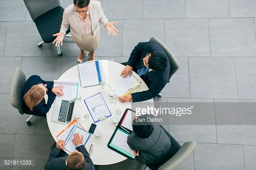 Stock Photo : Business people having meeting at table