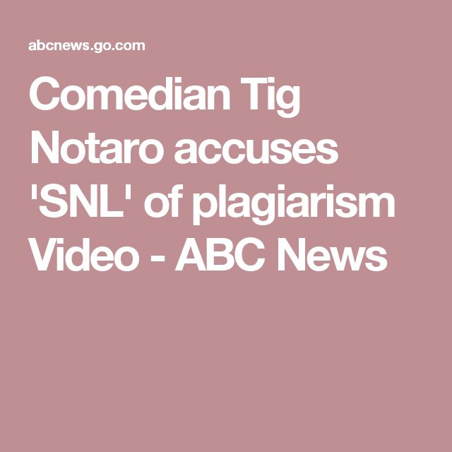 Comedian Tig Notaro accuses 'SNL' of plagiarism Video - ABC News