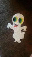 Vintage Halloween Ghost Plastic Melted Popcorn Decoration
