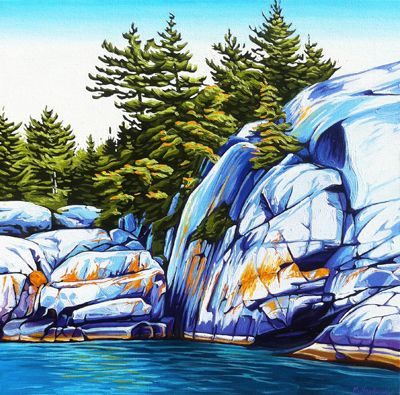 """Cliff Face Fraser Bay"" by Margarethe Vanderpas"