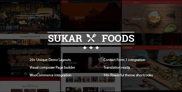 Sukar Restaurant WordPress Theme