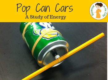 Potential and Kinetic Energy Hands-on Science lesson plan.  Includes teacher directions, student directions and follow up questions. This is a memorable activity that students love.  Uses basic household supplies to create a pop can 'car', clearly demonstrating potential and kinetic energy and allowing students to experiment with energy form and energy transfer.