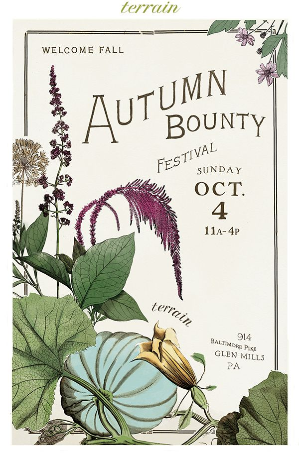 The annual #Autumn Bounty #Festival at #shopterrain September 19