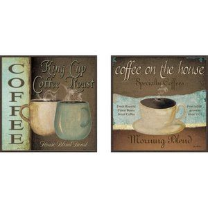 $48 perfect for the kitchen. Pro Tour Memorabilia, LLC Kitchen Coffee Label Framed Art