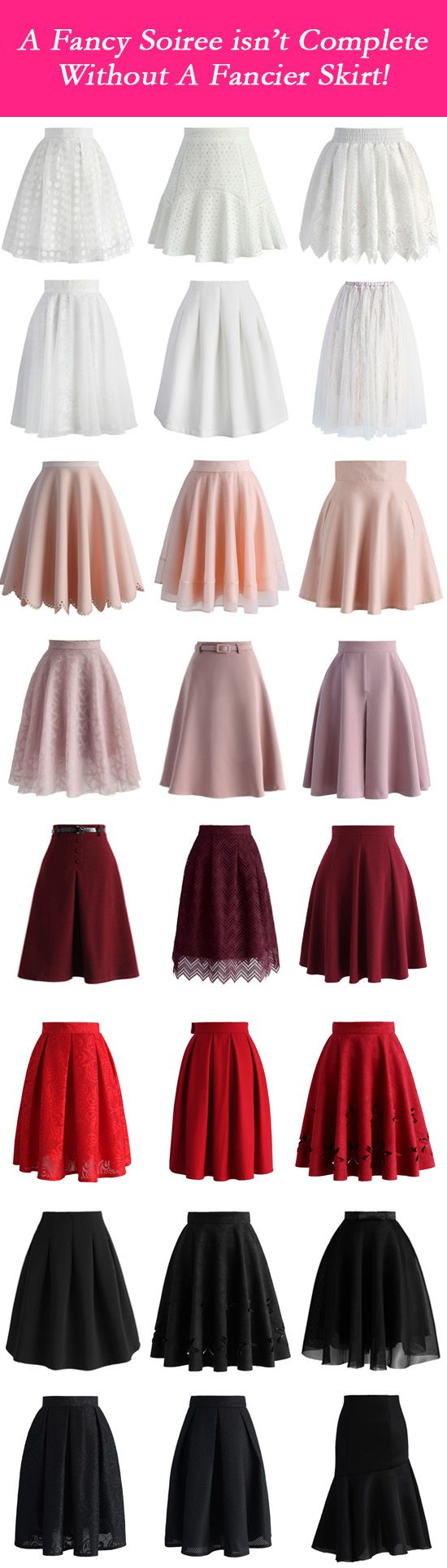 A fancy soiree isn't complete without a fancier skirt!