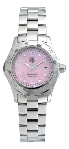 TAG Heuer Women's Aquaracer Diamond Pink Mother-of-Pearl Dial Watch WAF141A.BA0824