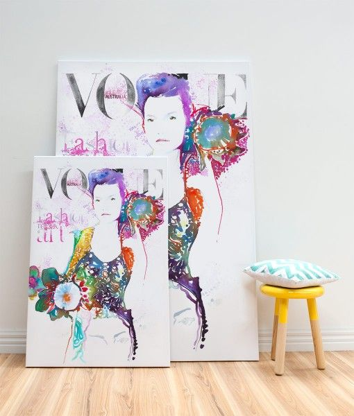 Vogue Cover Australia Canvas Wall Print-designed by Catherine Parr sold by Home @ Abode